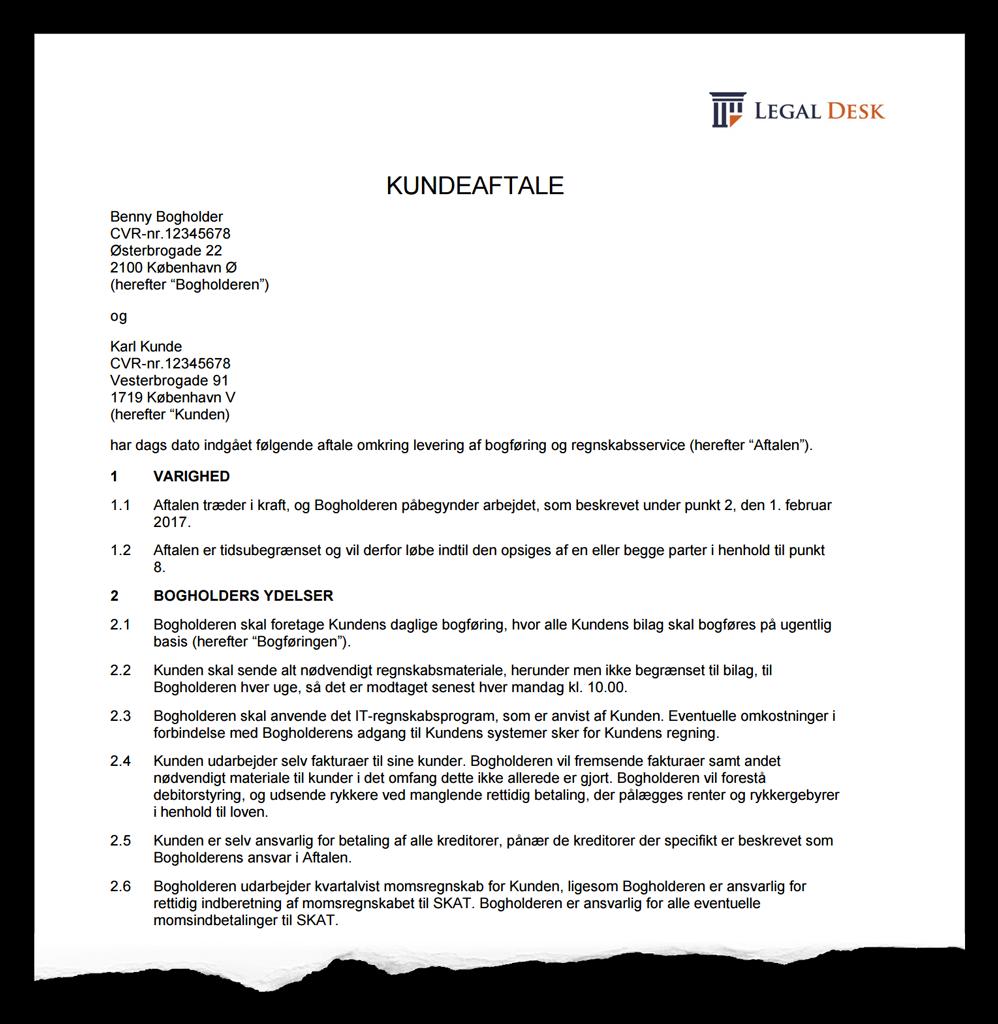 samarbejdsaftale mellem virksomheder